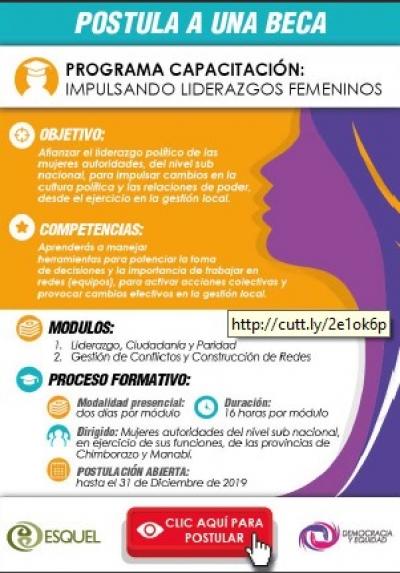 Programa de capacitación: Impulsando Liderazgos Femeninos